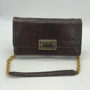 Jane Bolinger Brown Embossed Shoulder Bag
